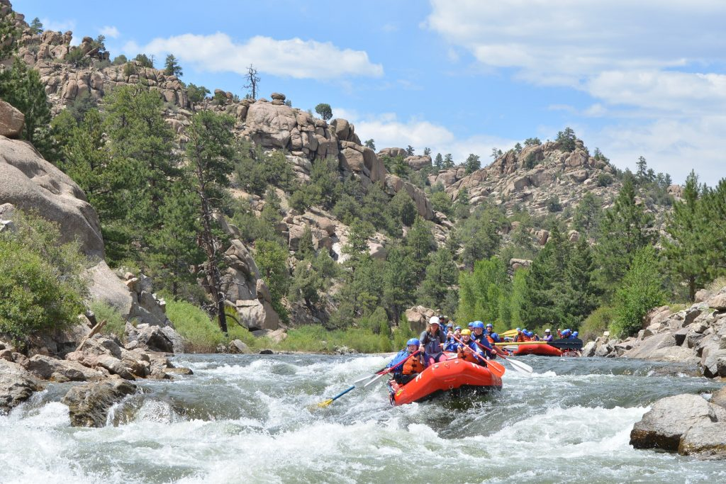 Whitewater rafting in Browns Canyon National Monument on the Arkansas River