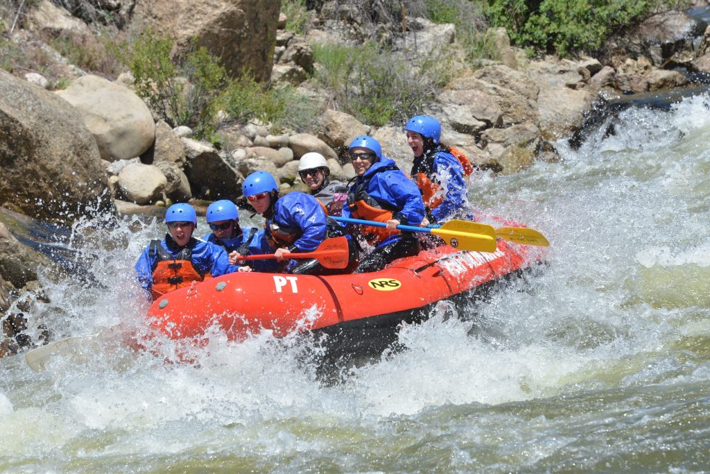 Browns Canyon family rafting trip july conditions arkansas river