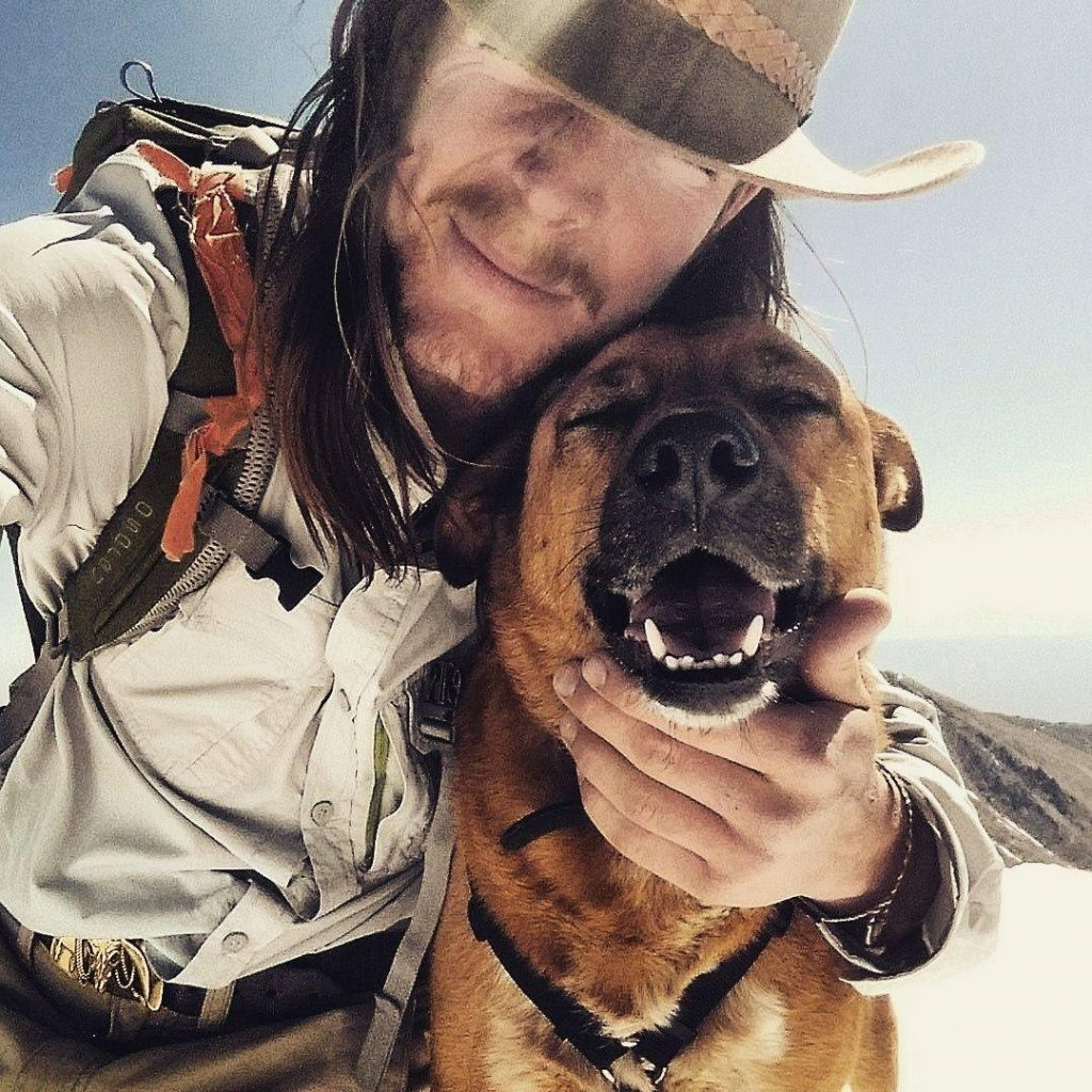 Jake raft guide and his dog remington